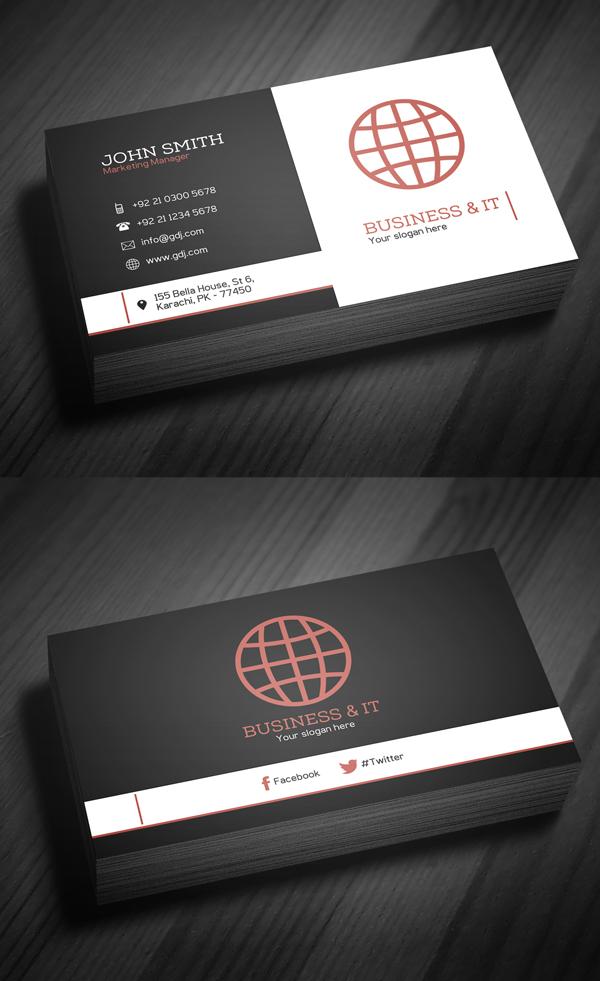 Corporate Business Card Template PSD -  6