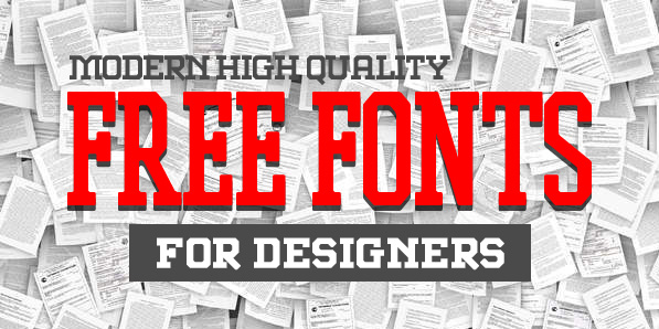 New Modern Free Fonts for Designers