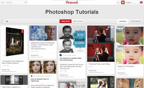 Photoshop Tutorials Pinterest Boards - 1