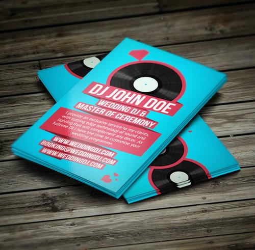 Wedding DJ Retro Business Card