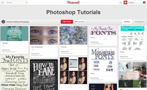 Photoshop Tutorials Pinterest Boards - 10