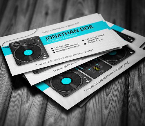 Turntablist DJ Business Card