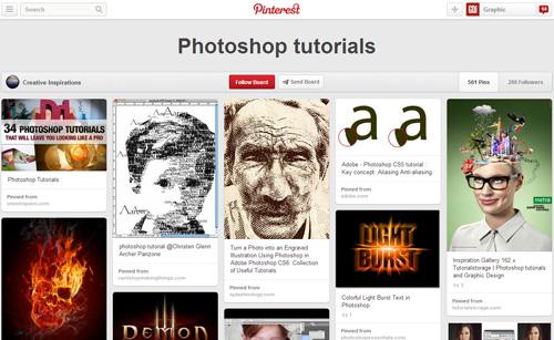 Photoshop Tutorials Pinterest Boards - 16