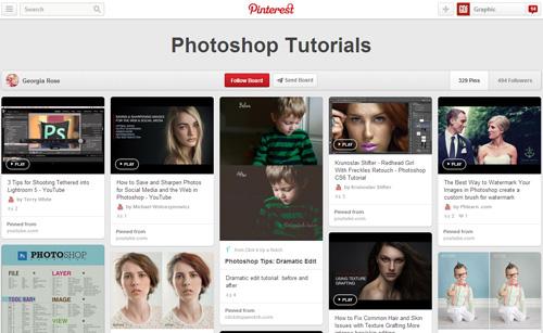 Photoshop Tutorials Pinterest Boards - 17