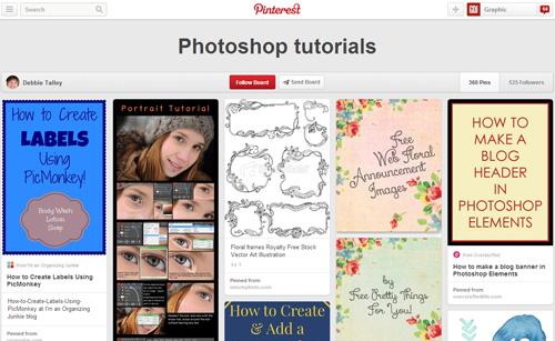 Photoshop Tutorials Pinterest Boards - 18