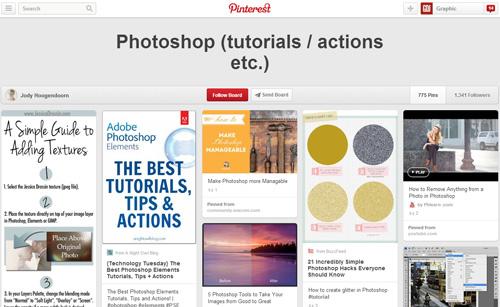 Photoshop Tutorials Pinterest Boards - 2