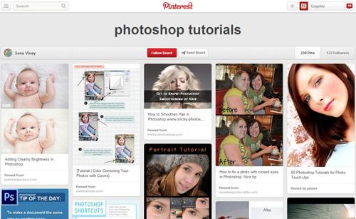 Photoshop Tutorials Pinterest Boards - 21