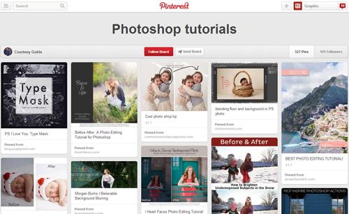 Photoshop Tutorials Pinterest Boards - 22