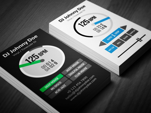 Digital Vinyl DJ Business Card for Serato DJs