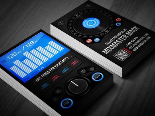 Amazing DJ Business Cards PSD Templates | Design | Graphic ...