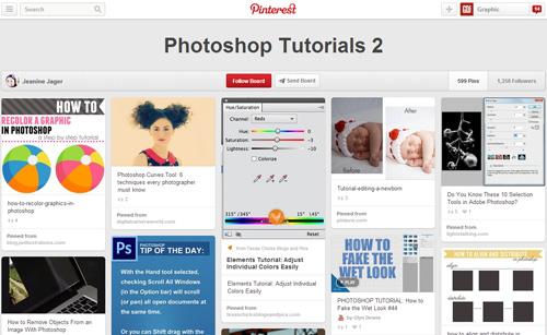 Photoshop Tutorials Pinterest Boards - 4