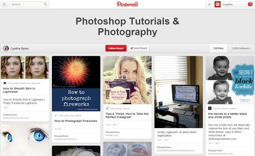 Photoshop Tutorials Pinterest Boards - 5
