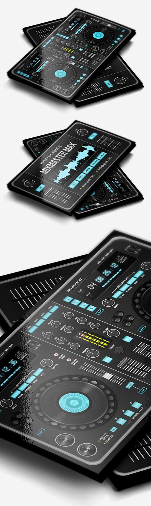 Digital DJ Business Card