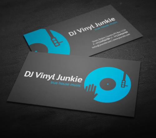 Vinyl DJ Business Card