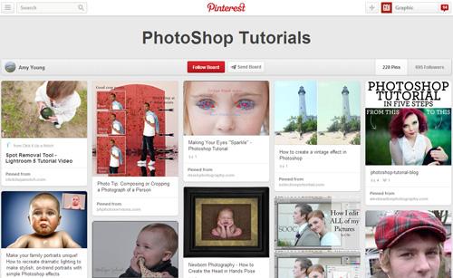 Photoshop Tutorials Pinterest Boards - 7