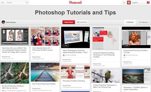 Photoshop Tutorials Pinterest Boards - 8