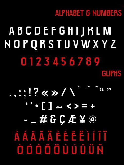 AENEA Free Font Letters