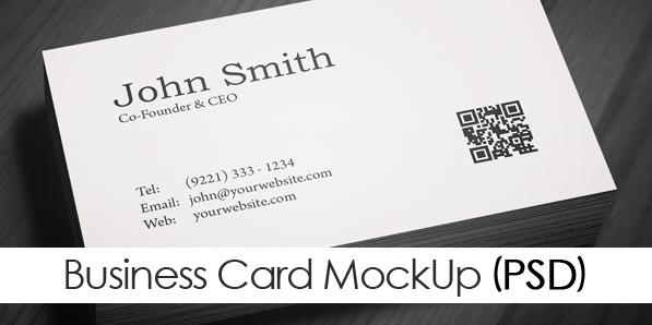 Free Minimal Business Card PSD Template