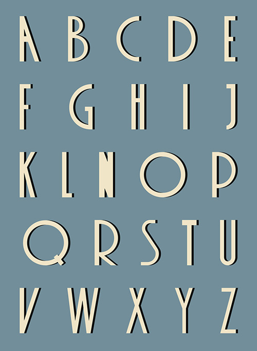 Contact High Free Font Letters