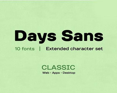 Days Sans free fonts for designers