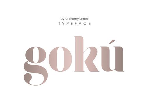 Goku Free Fonts 2014