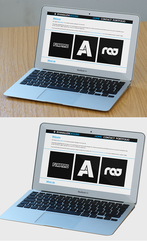 Macbook Air PSD Mock-ups
