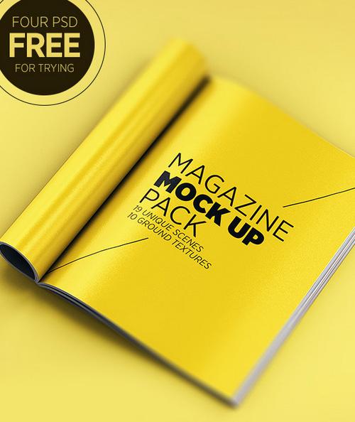 Magazine PSD Mock-ups