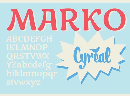 Marko One Free Fonts 2014