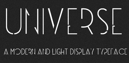 Universe Free Fonts 2014