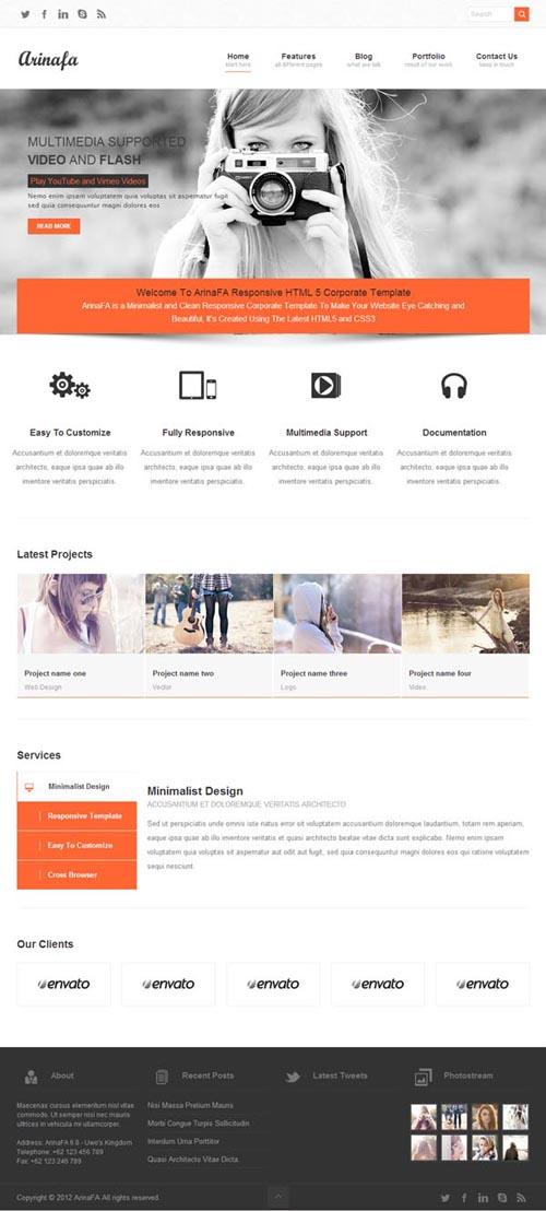 ArinaFA Corporate WordPress Theme