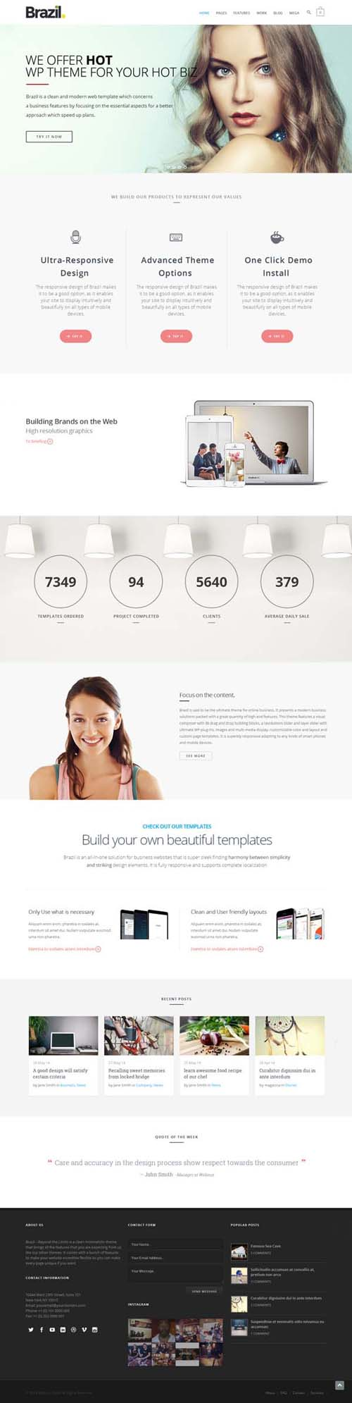 Brazil - WordPress Theme