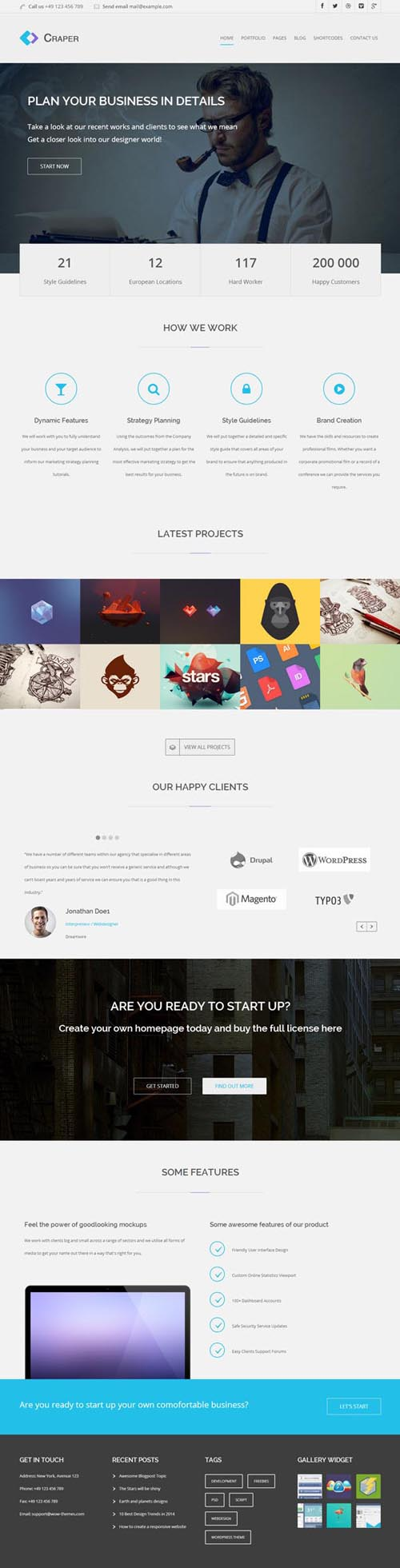 Craper - Responsive Business WordPress Theme