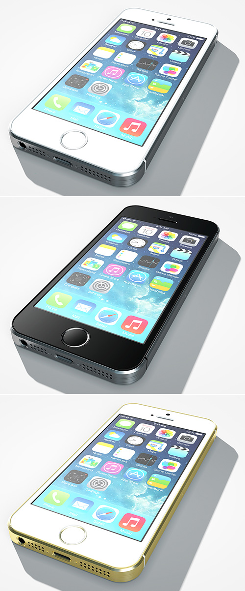 iPhone 5s Perspective PSD Mock-ups