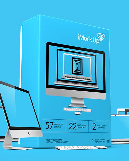 i Mock Up Super Pack PSD Mock-ups