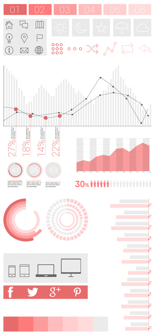 Free Infographics Vector Elements and Infographics Vector Graphics - 21