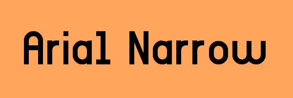 Arial Narrow Font Free Download