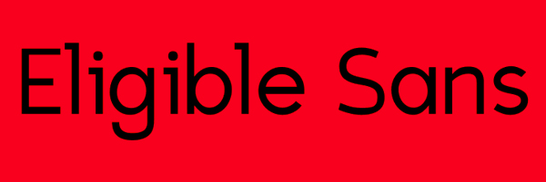 Eligible Sans Font Free Download