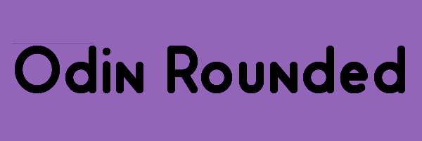 Odin Rounded Font Free Download