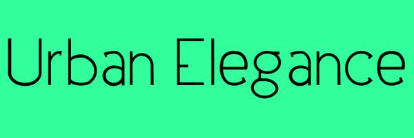 Urban Elegance Font Free Download