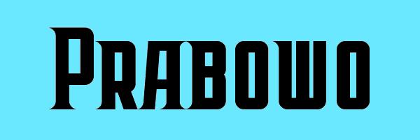 Prabowo Font Free Download