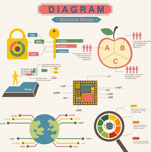 Flat Diagram Structural Design Vector