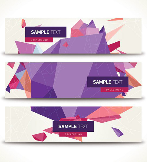 Geometric Banners Vector Graphic