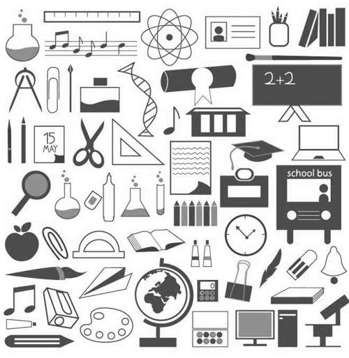 Education Icons Free Vector Graphics