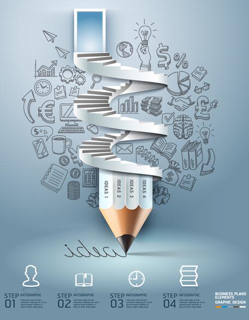 Infographics Business Plans Elements Vector