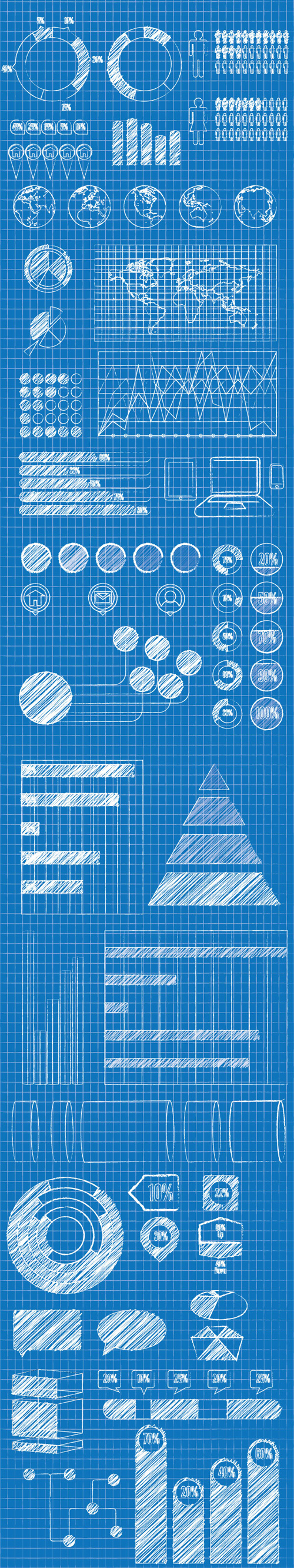Blueprint Infographic Elements