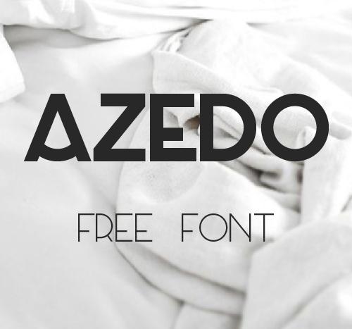 Azedo free font family download