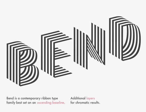 Bend free font family download