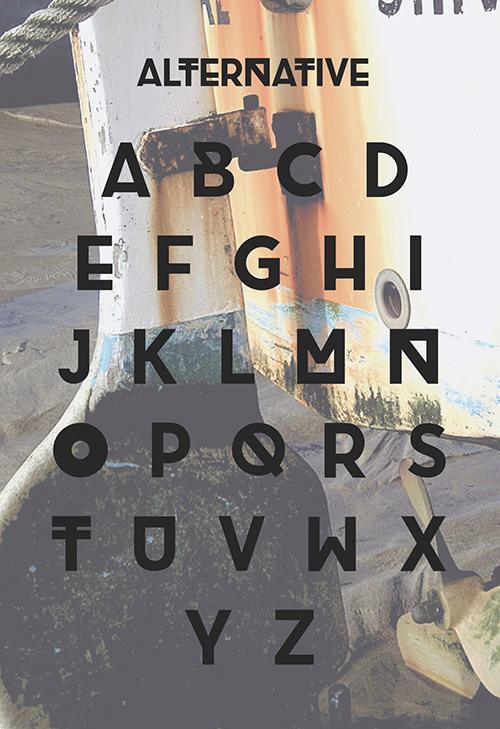 Brig free font letters