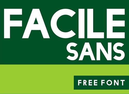 Facile Sans free font family download