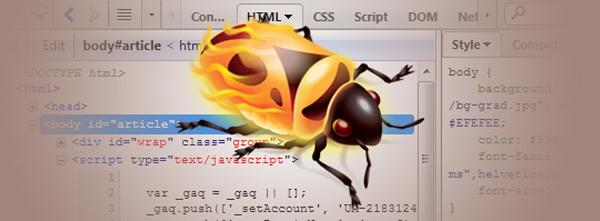 Firebug Code View